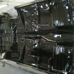 55 Chevy undercarriage black coating
