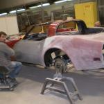 Body work on 78 Corvette; prepping for paint